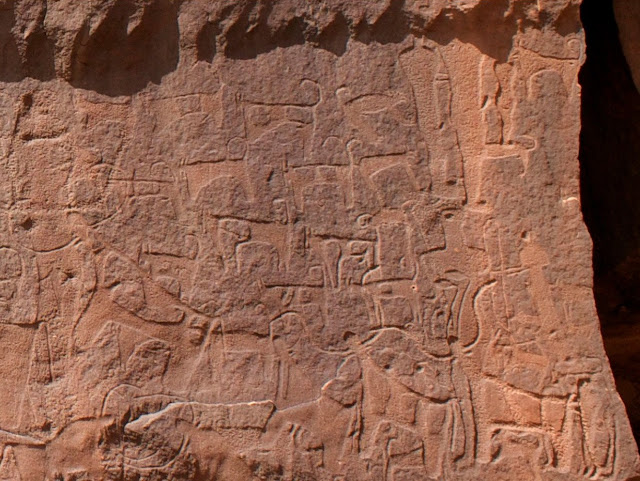 9,000 year old rock art from Saudi Arabia is earliest depiction of domesticated of dogs