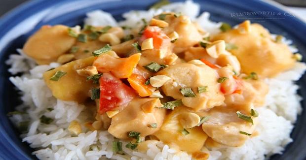 Slow Cooker Thai Pineapple Peanut Chicken Recipe