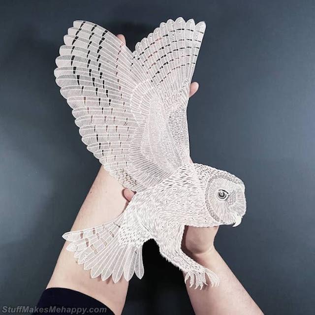 Inspirational Handmade Paper Cutting Art by Pippa Dyrlaga