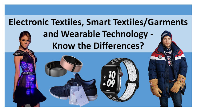 Difference between e-textiles, smart garment and wearable technology