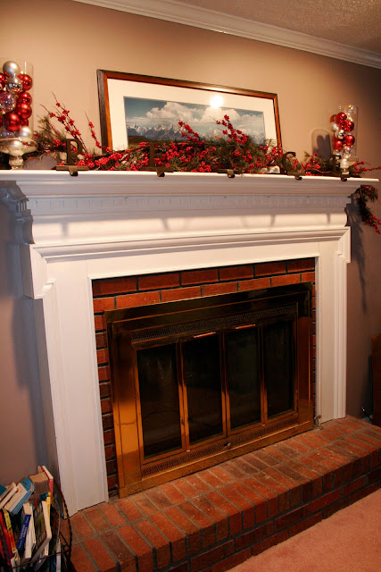 grass stains: Painting the brick fireplace surround