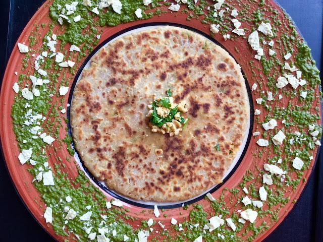 Paneer Papad ParathaIndian Breads, Stuffed Parathas & Wraps
