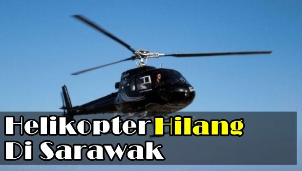 helikopter hilang sarawak, gambar helikopter hilang