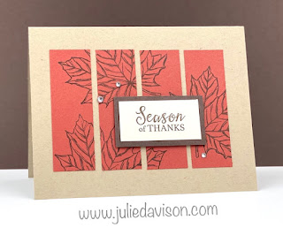 "Stampin' Up! Gather Together ""Cut Apart"" Card ~ www.juliedavison.com #stampinup"