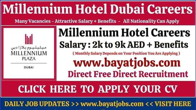 Millennium Hotel Dubai Careers Latest Updated Vacancies