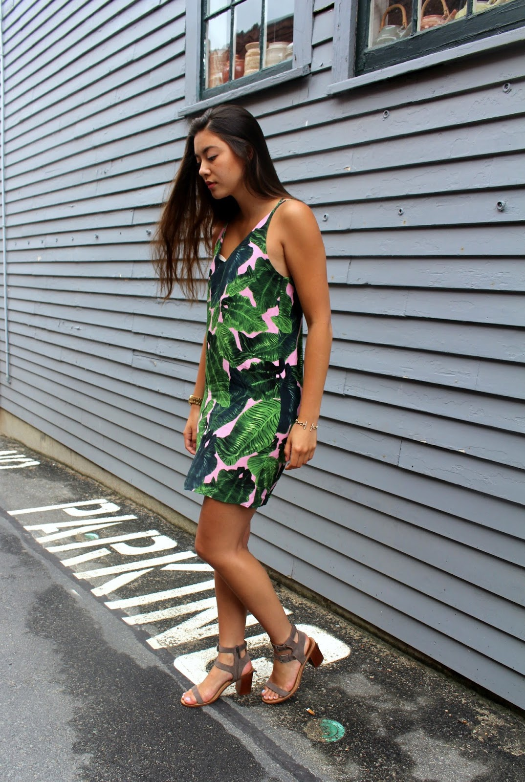 f0db4f583a17 Dress: Topshop | Sandals: Dolce Vita | Sunglasses: Quay Australia | Watch:  Michael Kors