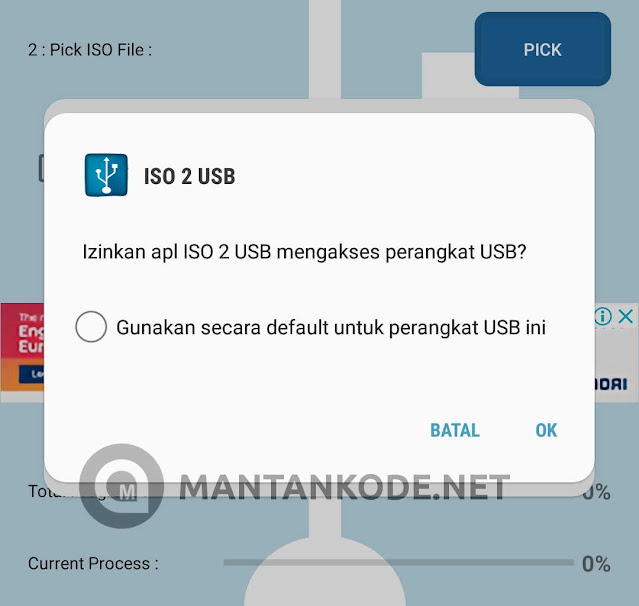 Izin usb ISO 2 USB - MANTANKODE