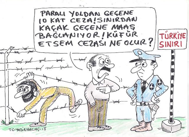 türkiye sınırı karikatürü