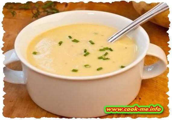 Cream of leek soup
