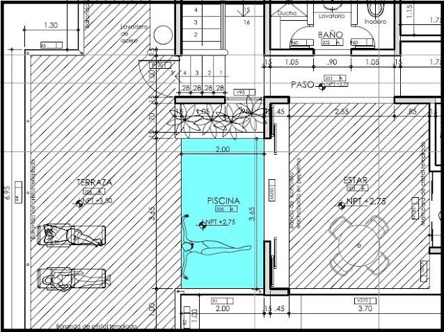 Casas de playa, planos del segundo piso