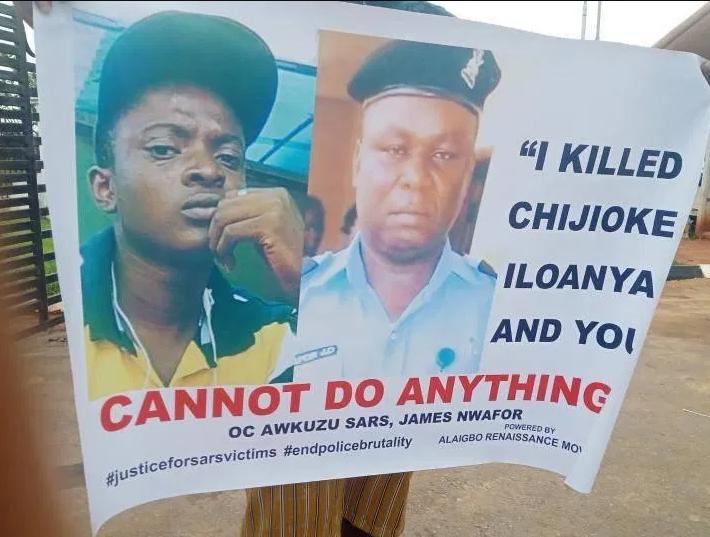 OAP, Toke Makinwa Calls For Prosecution of SARs Operative Over Death of Chijioke