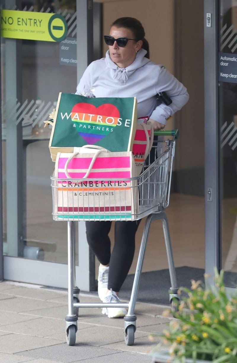Coleen Rooney Clicked While Shopping in Alderley Edge 16 Apr-2021