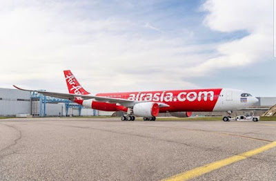 Airbus A330 NEO AirAsia Berhad just Appear for the first Time on Internet