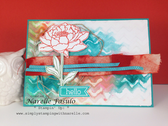 Narelle Fasulo - Simply Stamping with Narelle - Retiring Products - Chevron Embossing Folder - Perfect Pennants Stamp Set - available here - http://www3.stampinup.com/ECWeb/ItemList.aspx?categoryid=120700&dbwsdemoid=4008228