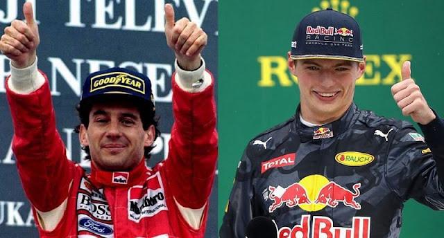Max Verstappen like Ayrton Senna