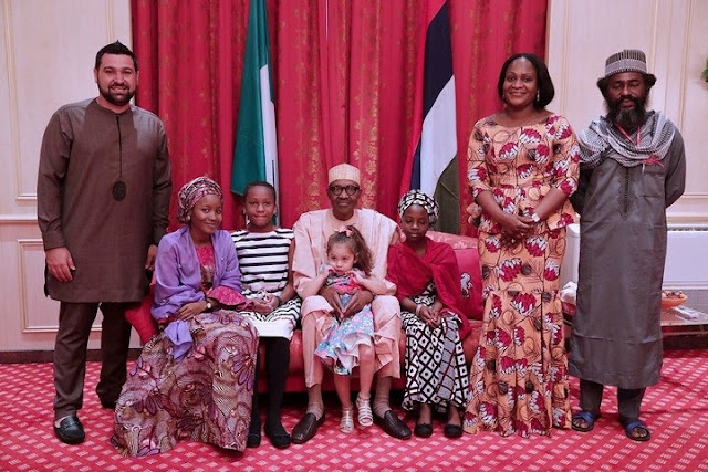 Photos Of President Buhari Rocking Bottega Venta Shoes