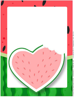 Watermelon Heart: Free Printable Invitations.