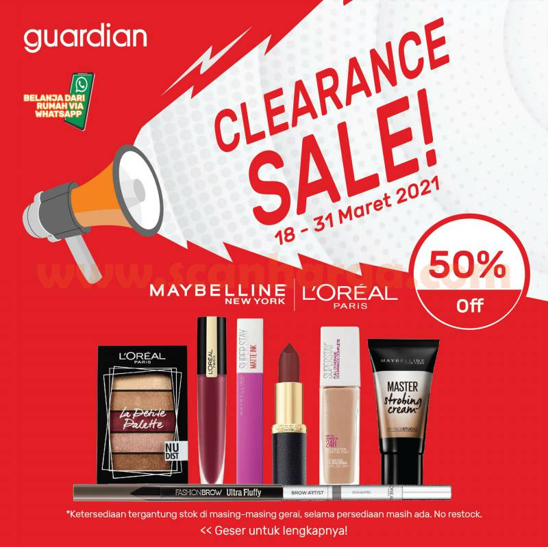 GUARDIAN Promo Clearance Sale DISKON hingga 50%