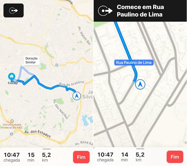 Mapas da Apple no Brasil finalmente passa a ter a Navegação ponto a ponto