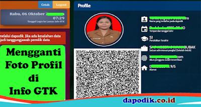 Mengganti Foto Profil di Info GTK
