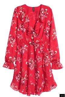 robe rouge fleuri