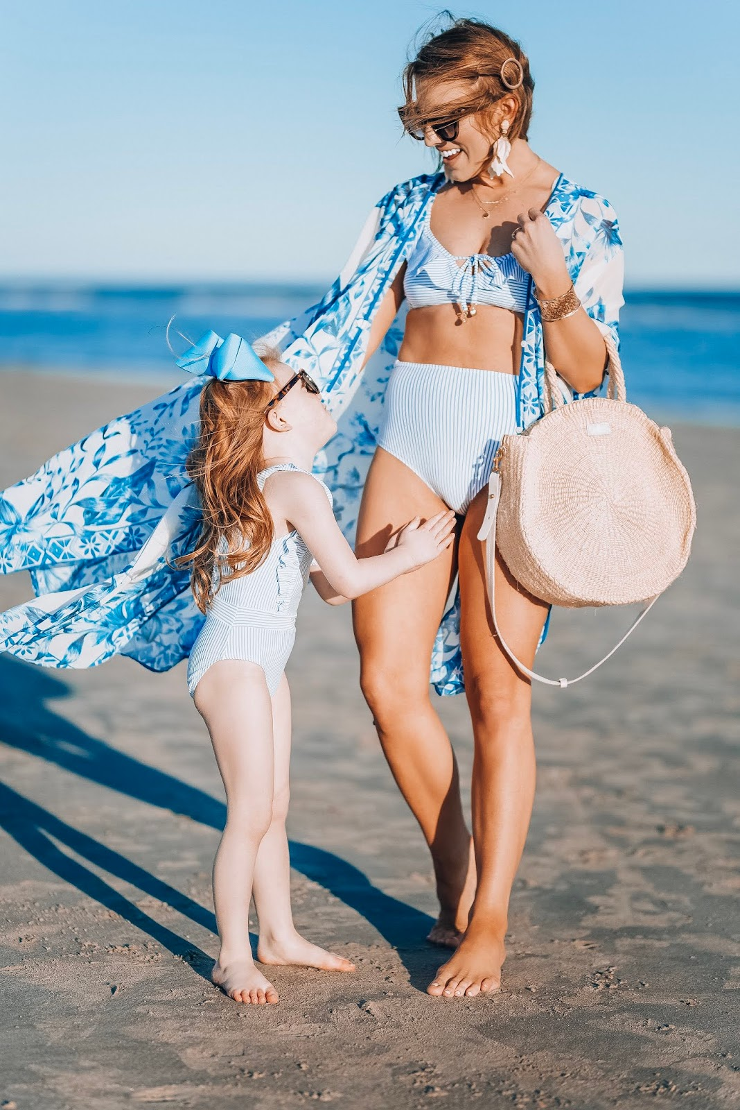 Affordable Blue and White Beach Look - Something Delightful Blog
