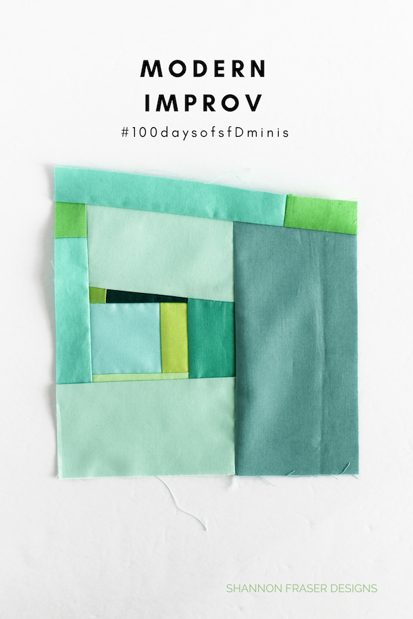 Modern Improv Block #100daysofsfdminis | Q4 2018 FAL | Shannon Fraser Designs