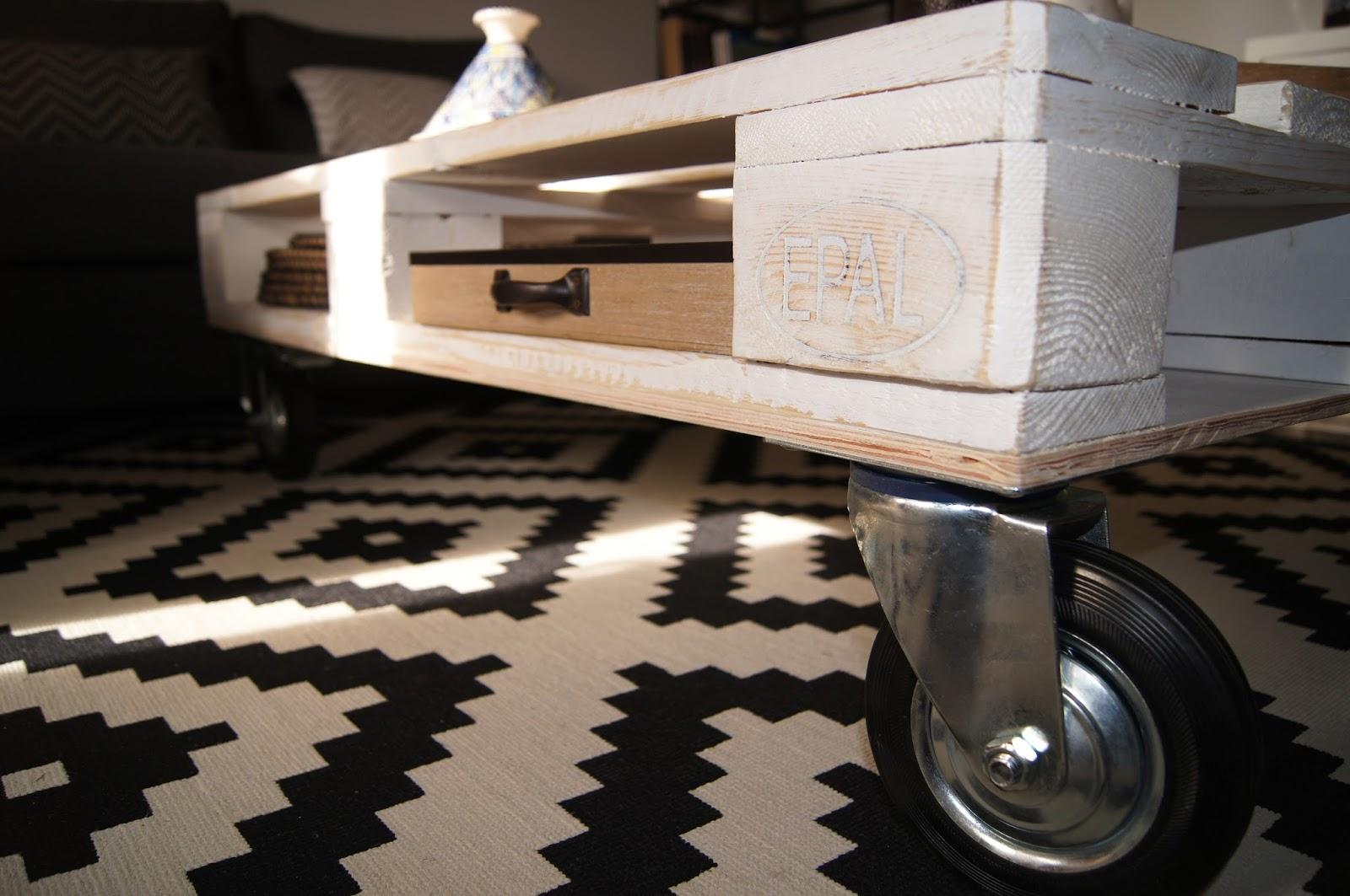 petits paradis une table de salon partir d 39 une palette. Black Bedroom Furniture Sets. Home Design Ideas