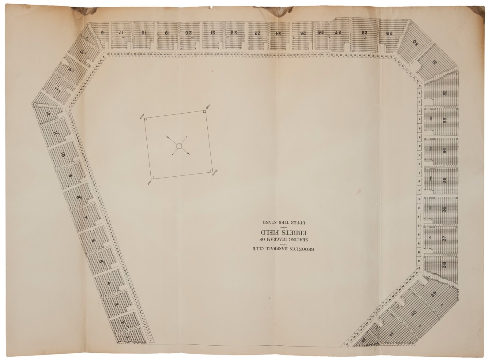 An ebbets field blueprint at goldin auctions according to the auction description it was originally found within the collection of a local ny tavern owner who counted many brooklyn players as patrons malvernweather Image collections