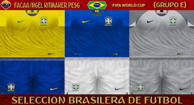 PES 6 Kits Brazil National Team World Cup 2018 by FacaA/Ngel