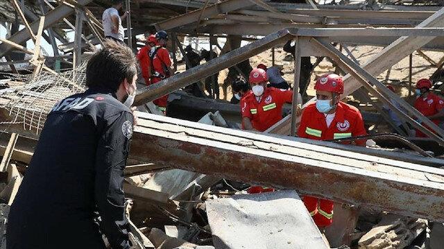 ترجمة تركيا بالعربي - فريق الإنقاذ التركي ينفذ عمليات قرب موقع انفجار بيروت