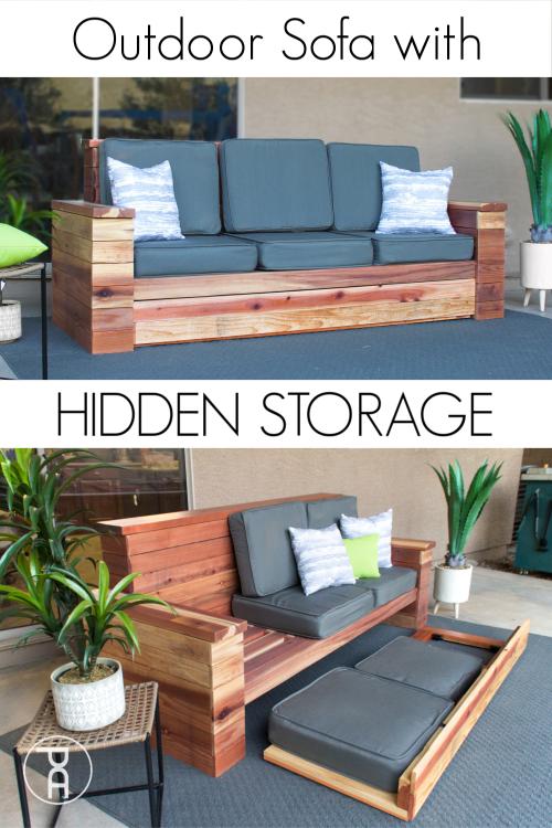 outdoor sofa with hidden storage