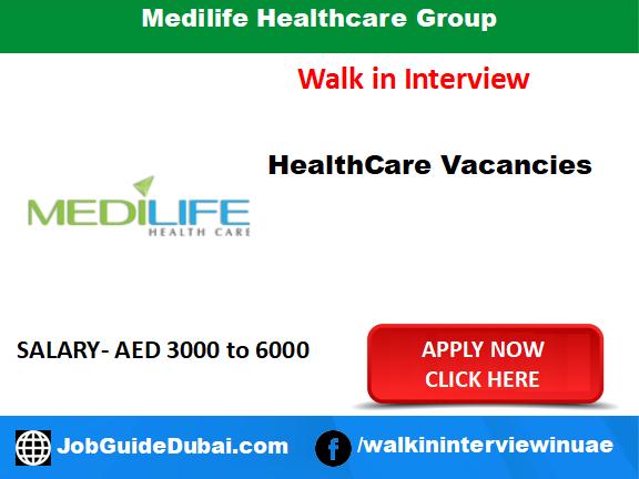 Medilife Healthcare Group career for Nurse job in Dubai
