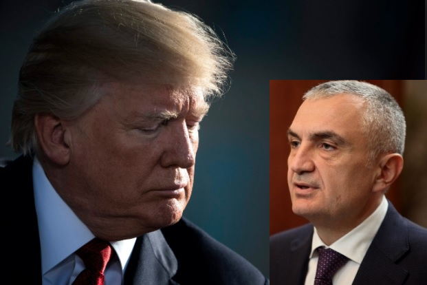 Ilir Meta letter and Donald Trump