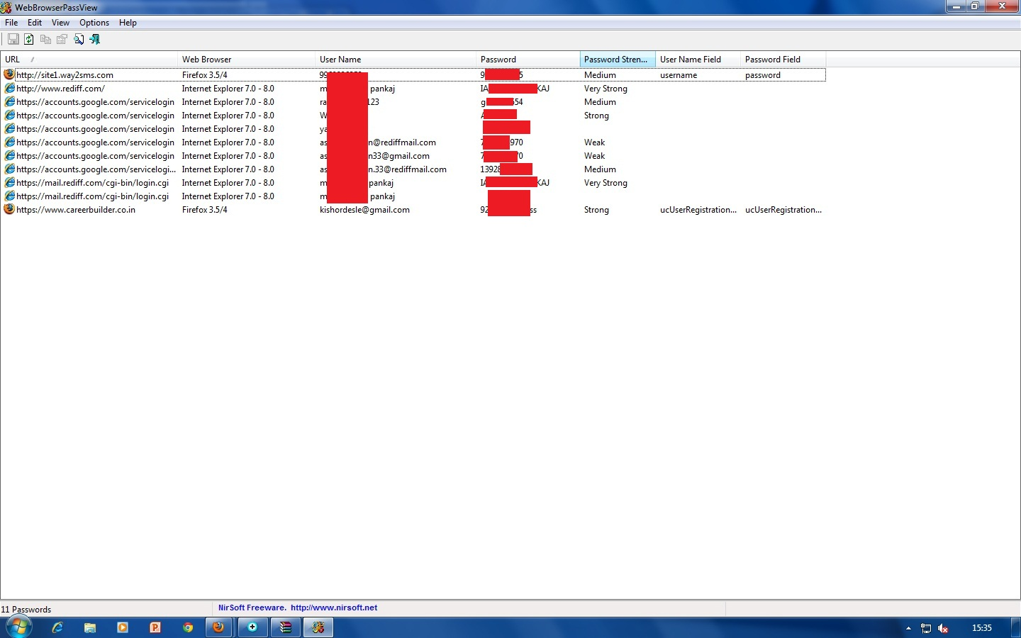 All The Secrets Of Hacking Is Exposed: Web Browser Pass View(email