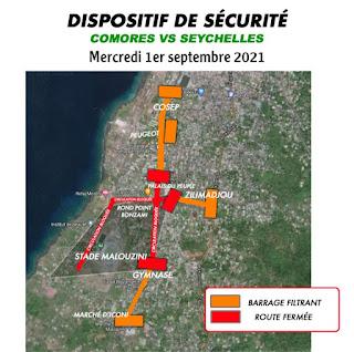 Dispositif de sécurité pour le match Comores Vs Seychelles