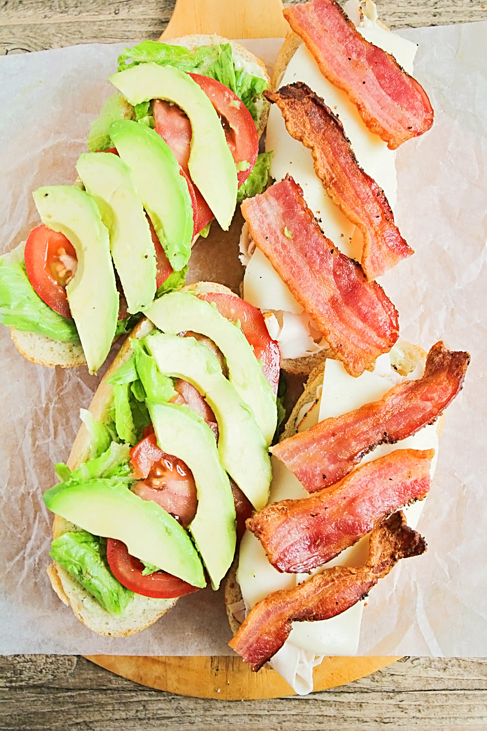 These turkey club picnic sandwiches are the perfect savory lunch for a fun outing!