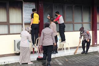 Dukung Penerapan Protokol Kesehatan, Bag Sumda Polres Pelabuhan Makassar lakukan Kurvei