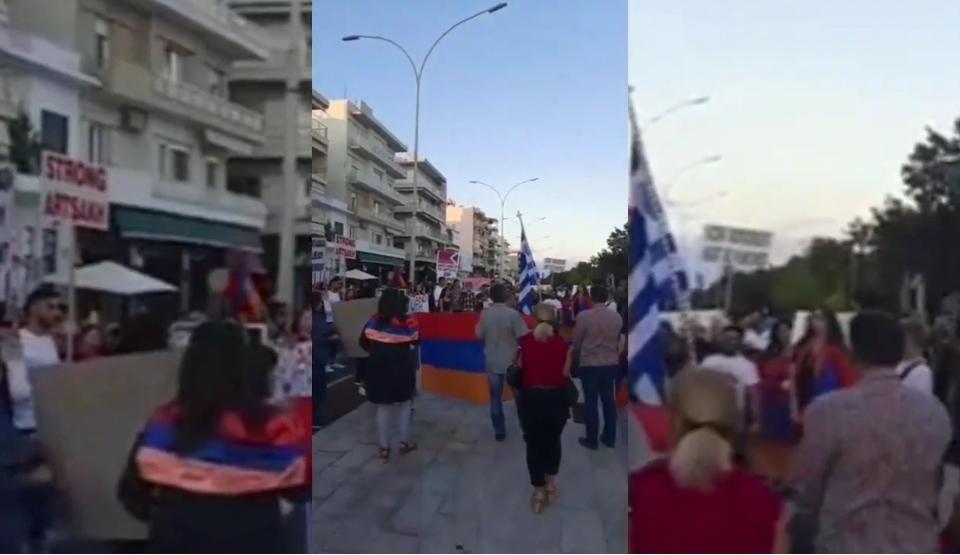 Μεγάλη κινητοποίηση στη Θράκη για την επίθεση στην Αρμενία