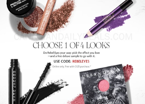 Sephora Free Rebel Eyes Sampler Promo Code