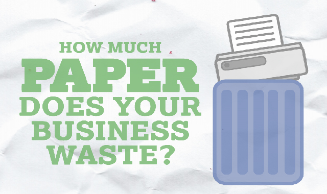 How Much Paper Does Your Business Waste? #infographic