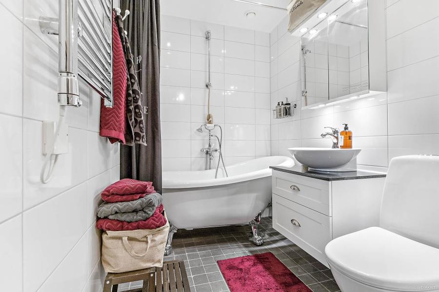 Szachownica, wystrój wnętrz, wnętrza, urządzanie mieszkania, dom, home decor, dekoracje, aranżacje, styl skandynawski, scandinavian style, styl rustykalny, rustic style, łazienka, bathroom