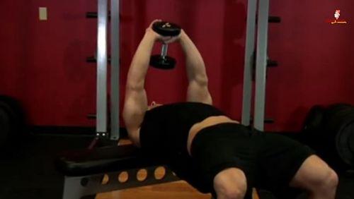 تمرين الصدر (البنش) بول أوفر بالدمبلز