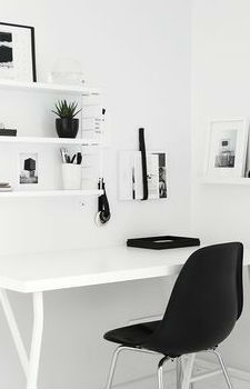 white workspace decoration