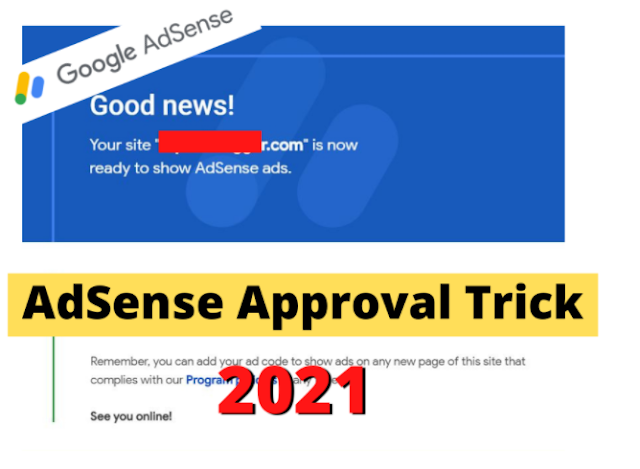 Google AdSense Approval Trick (Only 5 Hour) in 2021