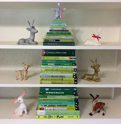 Cut book into shape with Dremel moto-saw, christmas Stefanie Girard, stack green books into Christmas tree