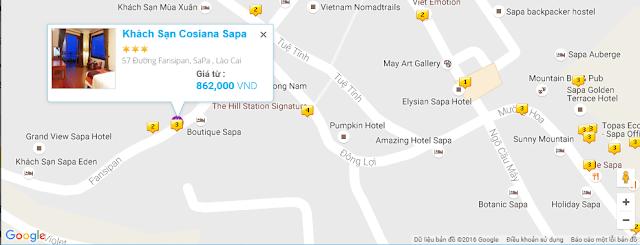 Vị trí khách sạn Sapa Cosiana hotel