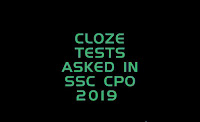 Cloze tests asked in SSC CPO 2019, Englishkendra