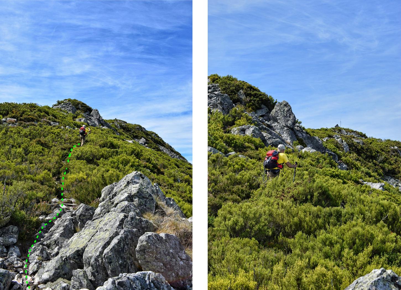 ultimos metros hacia la cumbre