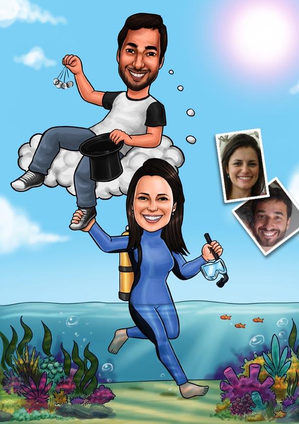 caricatura rio de janeiro